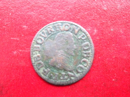 Chateau Regnault - Bourbon Conti - Double Tournois      Type 18 - 476-1789 Monnaies Seigneuriales