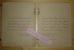 FAIRE-PART MARIAGE 1888 SIMOUNEAU # GODINEAU BRUNEAU ROUZOUL 17-La Rochelle - Mariage