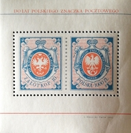 Poland  1990 First Polish Postage Stamp, 130th. Anniv. S/S - 1944-.... Republic