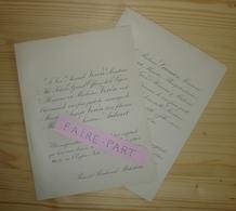 FAIRE-PART MARIAGE 1891 VERON # AUBARET GRANIER Sénateur Ministre Poitiers Paris - Mariage