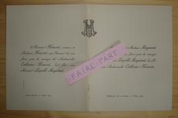 FAIRE-PART MARIAGE 1892 MAGNIANT # HOUSSET Châtellerault Vivonne Vienne - Mariage