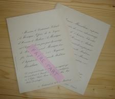 FAIRE-PART MARIAGE 1892 MOREIGNE # MASSABIAU Paris - Mariage