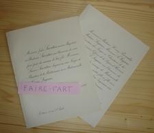 FAIRE-PART MARIAGE 1892 SAVATIER # LAGANE REVERDIT Poitiers La Seyne-sur-Mer - Mariage