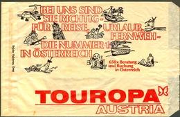 Alte Tourist Umschlag TOUROPA AUSTRIA Hallo Steirer Schoenen Urlaub Mit... RR - Advertising