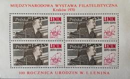 Poland 1970  Commemorates The Cracow Intl. Phil. Exhib  S/S - 1944-.... Republic