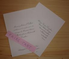 FAIRE-PART MARIAGE 1904 VALLAT # COMBIER REVEL Sury-le-Comtal Loire Aubenas - Mariage