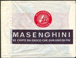OLD RECLAME MASENGHINI BERGAMO Le Carte Da Gioco Che Durano Di Piu Italy - Advertising