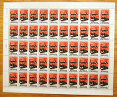 FRANCE 1986 FEUILLE COMPLETE DE 50 TIMBRES  LES MUSEES TECHNIQUES  MULHOUSE YT 2450 ** - Feuilles Complètes