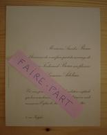 FAIRE-PART MARIAGE 1905 BEAU # ADELINE Paris Eglise Saint-Pierre De Chaillot - Mariage