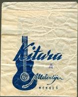 Stara REKLAMNA Koverta Umschlag KITARA MENGEŠ TOVARNE MELODIJA SLOVENIA - Advertising