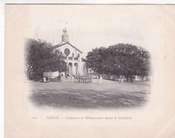 DAKAR. COMPAGNIE DE DEBARQUEMENT DEVANT LA CATHEDRALE. SENEGAL. CIRCA 1900s- BLEUP - Senegal