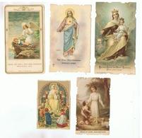 JM29.10 /  5 IMAGES RELIGIEUSES - Devotieprenten