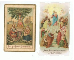 JM29.10 /  2 IMAGES RELIGIEUSES-1 VERSO  IMPRIME-1 DOUBLE FEUILLET - Devotieprenten