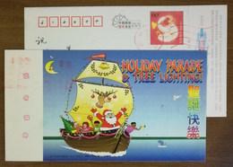 Santa Claus On Sailing Ship,reindeer,basketball Boy,Clown,CN 04 Holiday Parade & Tree Lighting Merry Christmas PSC - Noël