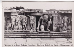 ATHENES. RELIEFS DU THEATRE DIONYSSOS. CIRCA 1930s- BLEUP - Griekenland