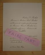 FAIRE-PART MARIAGE 1907 BECHET # GODILLOT Paris Neuilly - Mariage
