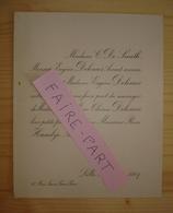 FAIRE-PART MARIAGE 1907 HAMBYE # DELEMER DE SMETH Avocat Bâtonnier Lille Nord - Mariage