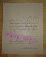 FAIRE-PART MARIAGE 1911 COCHIN # FIRMIN-DIDOT BAUDRILLART Sainte-Clotilde Paris - Mariage