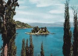 CORFOU, LE PONTIKONISSI. CIRCULE 1965 TO ARGENTINE- BLEUP - Griekenland