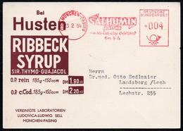 B6888 - Alter Beleg - Freistempel Freitsempler Werbekarte Firmenpost Ribbeck München - [7] Federal Republic