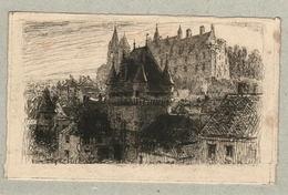 37 - Indre Et Loire - Eau Forte - Le Château De Loches - Mayeur - Francia