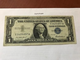 USA United States $1.00 Banknote 1957  #30 - Devise Nationale