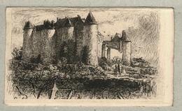 37 - Indre Et Loire - Eau Forte - Le Château De Luynes - Mayeur - Francia