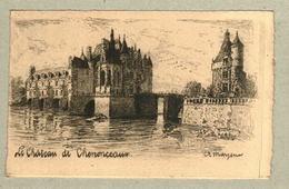 37 - Indre Et Loire - Eau Forte - Le Château De Chenonceaux - Francia