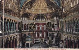 CONSTANTINOPLE. SATAMBOUL. INTERIEUR DE LA MOSQUEE ST SOPHIE. CIRCA 1910s- BLEUP - Turkije
