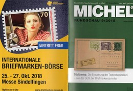 Rundschau Briefmarken MICHEL 9/2018 New 6€ Stamps Of The World Catalogue/magacine Of Germany ISBN 978-3-95402-600-5 - Magazines