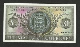 GUERNSEY 1 POUND 1969 Pick #45b UNC - Guernsey