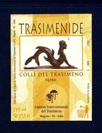 Etichetta Usata, Used Label Wine- Trasimenide, Colli Del Trasimeno. Annata 1998. Cantina Intercomunale Del Trasimeno. - Blancs