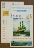 Maritime Navigation Era Sailing Ship,China 2000 Yichun City Urban Credit Union Advertising Pre-stamped Card - Maritime