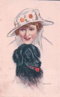 Bianchi, Femme Au Chapeau Et Chien (21331) - Illustrateurs & Photographes