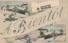 A Bientôt De Cogners (72 Sarthe) Du Train En Gare - Le Départ La Tristesse Des Adieux - La Joie Du Retour - édit Laclau - France