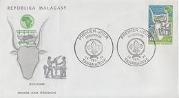 Enveloppe  FDC  1er  Jour   MADAGASCAR    SCOUTISME     1974 - Madagascar (1960-...)