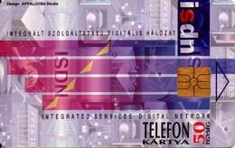 TARJETA TELEFONICA DE HUNGRIA. ISDN. CHIP ROJO. HU-P-1995-14A (194) - Hungría
