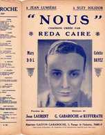 CAF CONC ROMANCE AMOUR REDA CAIRE PARTITION NOUS MARY DOL DAYEZ GABAROCHE KUFFERATH LAURENT - Musique & Instruments