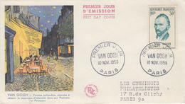Enveloppe  FDC  1er  Jour   FRANCE   Vincent   VAN  GOGH   1956 - FDC