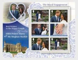 H01 Isle Of Man 2018 Royal Wedding Harry Meghan MNH Postfrisch - Man (Insel)