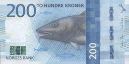 NORWAY P. 55 200 K 2016 UNC - Norvège