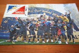 """CPM Carte Maximum  CM """"Merci Les Bleus"""" Coupe Du Monde 2018 Russie Seconde Etoile FRANCE """"Cup Final""""Paris - Fútbol"""