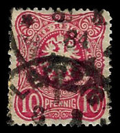 Germany 1875-1877, #39 Reichs Post. 10 Pfennig, Used, Tear On Bottom. - Germany