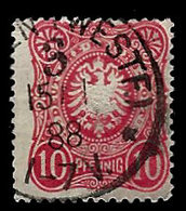 Germany 1875-1877, #39 Reichs Post. 10 Pfennig, Used, Off Center - Germany