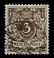 Germany 1889, #46 Reichspost 5phenig, Used., VF - Germany