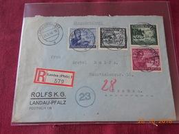 Lettre D Allemagne De 1944 Pour Bremen En Recommande - Briefe U. Dokumente