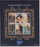 PALAU 1997 BLOC DEESSE DU VOLCAN  YVERT N°1068/73  NEUF MNH** - Contes, Fables & Légendes