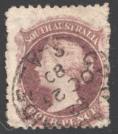 4d. Plum  SG 114 - 1855-1912 South Australia
