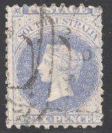 6d. Indigo SG 116 - 1855-1912 South Australia