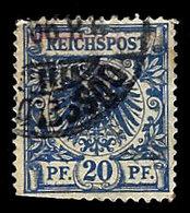 Germany 1889, #49 Reichspost 20 Pfennig, Used., Perf Damage - Germany